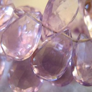 Rose de France Pear Briolette /Pink AMETHYST Beads / Luxe AAA / 1-20 pcs, 11-13 mm, LILAC Pink, february birthstone brides bridal  1113 | Natural genuine other-shape Amethyst beads for beading and jewelry making.  #jewelry #beads #beadedjewelry #diyjewelry #jewelrymaking #beadstore #beading #affiliate #ad