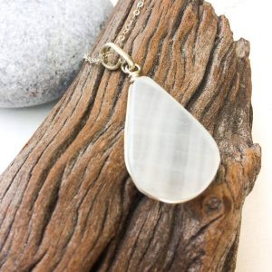 Shop Calcite Jewelry! White Calcite pendant, Sterling silver pendant, teardrop white calcite pendant, silver jewelry, white stone pendant, Spiritual pendant, Gift | Natural genuine Calcite jewelry. Buy crystal jewelry, handmade handcrafted artisan jewelry for women.  Unique handmade gift ideas. #jewelry #beadedjewelry #beadedjewelry #gift #shopping #handmadejewelry #fashion #style #product #jewelry #affiliate #ad