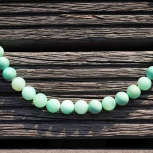 Shop Chrysoprase Round Beads! Chrysoprase A grade 9-10mm round beads (ETB00167) | Natural genuine round Chrysoprase beads for beading and jewelry making.  #jewelry #beads #beadedjewelry #diyjewelry #jewelrymaking #beadstore #beading #affiliate #ad