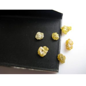 Shop Raw & Rough Diamond Stones! 5-6mm Each Approx Yellow Drilled Raw Diamonds, Yellow Rough Diamond, Nautral Yellow Raw Uncut Diamond For Jewelry (1Pc To 10Pc Options) | Natural genuine stones & crystals in various shapes & sizes. Buy raw cut, tumbled, or polished gemstones for making jewelry or crystal healing energy vibration raising reiki stones. #crystals #gemstones #crystalhealing #crystalsandgemstones #energyhealing #affiliate #ad