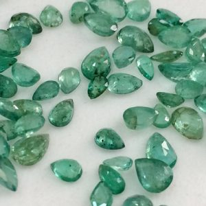 Shop Emerald Faceted Beads! 1 Ctw Emerald Stones, Natural Loose Emerald Faceted Pear Gemstone Lot, Original Emerald, Emerald Jewelry, 2.5x4mm – 4x6mm – | Natural genuine faceted Emerald beads for beading and jewelry making.  #jewelry #beads #beadedjewelry #diyjewelry #jewelrymaking #beadstore #beading #affiliate #ad