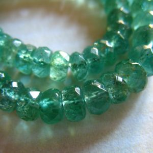 Zambian Emerald Rondelles Beads / 10-100 Pc, Luxe Aaa, 3-3.5 Mm, Gorgeous Green, Faceted, Holidays Bridal May Birthstone True 35