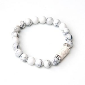 Shop Howlite Bracelets! Howlite bracelet for Aromatherapy | Natural genuine Howlite bracelets. Buy crystal jewelry, handmade handcrafted artisan jewelry for women.  Unique handmade gift ideas. #jewelry #beadedbracelets #beadedjewelry #gift #shopping #handmadejewelry #fashion #style #product #bracelets #affiliate #ad