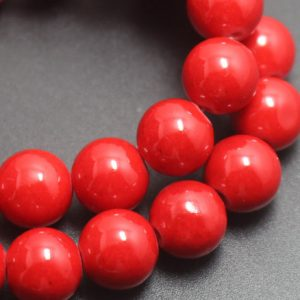 Shop Jade Beads! Red Mountain Jade Beads,4mm/6mm/8mm/10mm/12mm Candy Jade Beads,Smooth and Round  Beads,16 inches one starand | Natural genuine beads Jade beads for beading and jewelry making.  #jewelry #beads #beadedjewelry #diyjewelry #jewelrymaking #beadstore #beading #affiliate #ad
