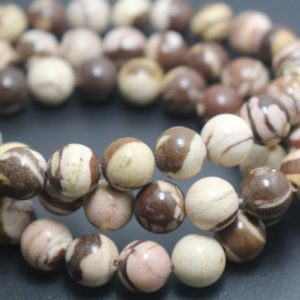 Shop Jasper Beads! Australian Zebra Jasper Beads,6mm/8mm/10mm/12mm Smooth and Round Stone Beads,15 inches one starand | Natural genuine beads Jasper beads for beading and jewelry making.  #jewelry #beads #beadedjewelry #diyjewelry #jewelrymaking #beadstore #beading #affiliate #ad