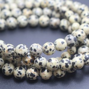 Shop Jasper Beads! Dalmatian Jasper Beads,6mm/8mm/10mm/12mm Smooth and Round Stone Beads,15 inches one starand | Natural genuine beads Jasper beads for beading and jewelry making.  #jewelry #beads #beadedjewelry #diyjewelry #jewelrymaking #beadstore #beading #affiliate #ad