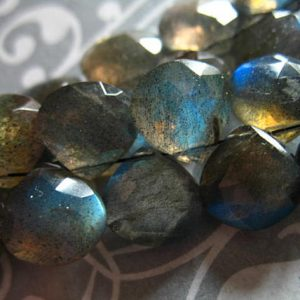 Shop Labradorite Faceted Beads! LABRADORITE Heart Briolettes, 10-11 mm,  3-12 pieces, AAA Grade, Faceted, Gray Silver with blue flashes, brides, bridal  1011 | Natural genuine faceted Labradorite beads for beading and jewelry making.  #jewelry #beads #beadedjewelry #diyjewelry #jewelrymaking #beadstore #beading #affiliate #ad