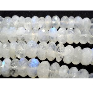 Shop Moonstone Faceted Beads! Rainbow Moonstone Rondelle, 5mm Beads, Faceted Rondelle Beads,7 Inch Half Strand | Natural genuine faceted Moonstone beads for beading and jewelry making.  #jewelry #beads #beadedjewelry #diyjewelry #jewelrymaking #beadstore #beading #affiliate #ad