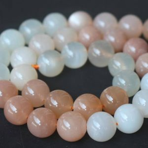 Shop Moonstone Round Beads! 6mm/8mm/10mm/12mm Natural AAAA Mixcolor Moonstone Smooth and Round Beads,15 inches one starand | Natural genuine round Moonstone beads for beading and jewelry making.  #jewelry #beads #beadedjewelry #diyjewelry #jewelrymaking #beadstore #beading #affiliate #ad