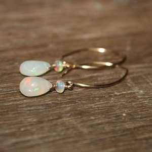 Shop Opal Jewelry! Genuine Fire Ethiopian Opal Earrings, Ethiopian Opal Jewelry, Welo Opal, Dangle Cluster Earrings, October Birthstone, Silver or Gold | Natural genuine Opal jewelry. Buy crystal jewelry, handmade handcrafted artisan jewelry for women.  Unique handmade gift ideas. #jewelry #beadedjewelry #beadedjewelry #gift #shopping #handmadejewelry #fashion #style #product #jewelry #affiliate #ad