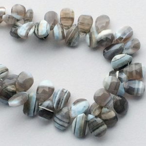 Shop Opal Faceted Beads! Opal – Boulder Opal Beads, Boulder Opal Faceted Pear Beads, Boulder Opal Necklace, 12x8mm To 14x10mm, 32 Pieces, 8 Inch Strand, Wholesale | Natural genuine faceted Opal beads for beading and jewelry making.  #jewelry #beads #beadedjewelry #diyjewelry #jewelrymaking #beadstore #beading #affiliate