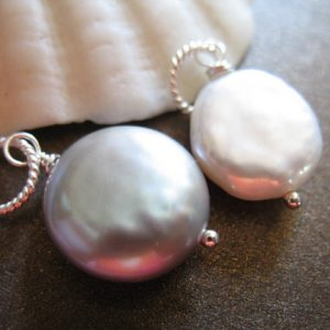 Shop Pearl Beads! Single PEARL Pendant Charm Dangle Drop Pearl Solitaire / GRAY / Sterling Silver Gold Fill / brides bridal June birthstone gdp1 solo | Natural genuine beads Pearl beads for beading and jewelry making.  #jewelry #beads #beadedjewelry #diyjewelry #jewelrymaking #beadstore #beading #affiliate #ad