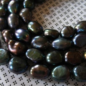 Shop Pearl Beads! Full Strand, Freshwater BAROQUE Pearls, Cultured, Luxe AA, BLACK, 10×7 mm, Wholesale Pearls, baby june birthstone wholesale solo bbtb | Natural genuine beads Pearl beads for beading and jewelry making.  #jewelry #beads #beadedjewelry #diyjewelry #jewelrymaking #beadstore #beading #affiliate #ad