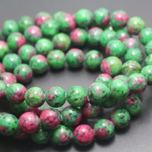 6mm/8mm/10mm/12mm Dyed Ruby Zoisite Beads,Smooth and Round Stone Beads,15 inches one starand | Natural genuine round Ruby Zoisite beads for beading and jewelry making.  #jewelry #beads #beadedjewelry #diyjewelry #jewelrymaking #beadstore #beading #affiliate #ad