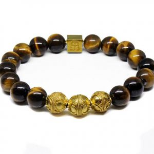 Shop Tiger Eye Bracelets! Men's Bracelet, Guy's Bracelet, Tiger's Eye and Gold Bracelet, Bracelet, Man's Bracelet, For Men, Bracelet, Men's Tiger's Eye Bracelet | Natural genuine Tiger Eye bracelets. Buy handcrafted artisan men's jewelry, gifts for men.  Unique handmade mens fashion accessories. #jewelry #beadedbracelets #beadedjewelry #shopping #gift #handmadejewelry #bracelets #affiliate #ad