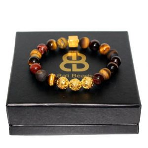 Mixed Tiger's Eye And Gold Beads Bracelet, Bracelet Men, Tiger's Eye Bracelet, Men's Gold Bracelet, Men's Bracelet, Bead Bracelet Men