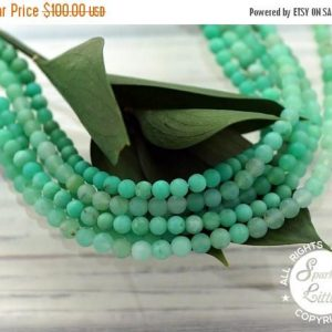 Xmas Sale Buy Now Matte Chrysoprase Aa Grade 4-4.5mm Round Beads (etb01096)