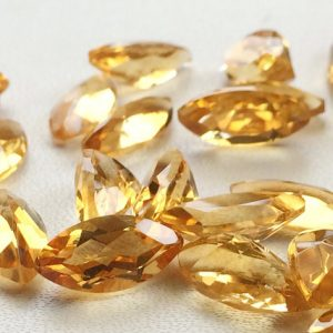 Citrine Cut Stone Lot – Marquise Faceted Calibrated Citrine – 6x12mm Each  – 11 Pieces, 21.40 Carats, Beautiful Orange Citrine Lot