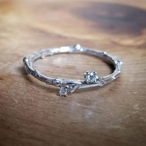 Shop Diamond Rings! April Birthstone Ring, White Gold Wedding Band Women, 14K White Gold Band, Diamond Ring, Womens Wedding Bands, White Gold Ring, Twig Ring | Natural genuine Diamond rings, simple unique alternative gemstone engagement rings. #rings #jewelry #bridal #wedding #jewelryaccessories #engagementrings #weddingideas #affiliate #ad