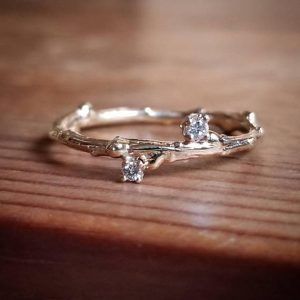 Shop Diamond Rings! Womens Wedding Band White Gold, Wedding Bands Women, White Gold Wedding Band, Unique Twig Wedding Ring, Delicate Diamond Rings for Women, | Natural genuine Diamond rings, simple unique alternative gemstone engagement rings. #rings #jewelry #bridal #wedding #jewelryaccessories #engagementrings #weddingideas #affiliate #ad
