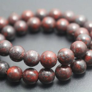 Shop Jasper Beads! Red Brecciated Jasper Beads,6mm/8mm/10mm/12mm Smooth and Round Stone Beads,15 inches one starand | Natural genuine beads Jasper beads for beading and jewelry making.  #jewelry #beads #beadedjewelry #diyjewelry #jewelrymaking #beadstore #beading #affiliate #ad