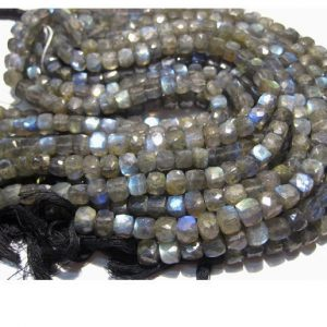 Labradorite Beads, 6mm Beads, Faceted Box Beads, 21 Pieces Approx, 5 Inch strand, Wholesale Gemstones | Shop beautiful natural gemstone beads in various shapes & sizes. Buy crystal beads raw cut or polished for making handmade homemade handcrafted jewelry. #jewelry #beads #beadedjewelry #product #diy #diyjewelry #shopping #craft