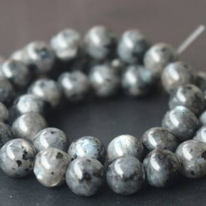 Black Labradorite Round Beads,6mm/8mm/10mm/12mm Smooth And Round Stone Beads,15 Inches One Starand