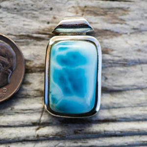 Shop Larimar Necklaces! Larmiar Pendant Little Larimar & Sterling Silver pendant – Little Larimar Tube Bale Pendant – Larimar necklace – Beautiful Little Larimar | Natural genuine Larimar necklaces. Buy crystal jewelry, handmade handcrafted artisan jewelry for women.  Unique handmade gift ideas. #jewelry #beadednecklaces #beadedjewelry #gift #shopping #handmadejewelry #fashion #style #product #necklaces #affiliate #ad