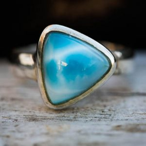 Shop Larimar Rings! Larmiar Ring Size 9.5 – Turtleback Larimar Ring –  Sterling Silver Larimar ring – Genuine Larimar – AAA Larimar Ring  – Larimar Jewelry | Natural genuine Larimar rings, simple unique handcrafted gemstone rings. #rings #jewelry #shopping #gift #handmade #fashion #style #affiliate #ad
