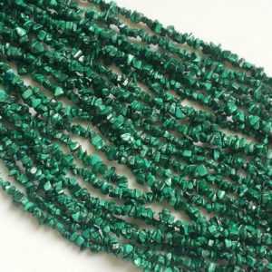 Malachite Chips, Malachite Beads, Natural Malachite Chips, Malachite Necklace, 4-6mm, 32 Inch – Rama54