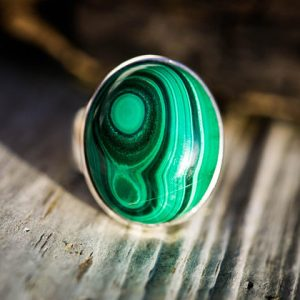 Malachite Ring Size 8 – Green Malachite Ring – Malachite Jewelry – Malachite Ring Size 8 – Unixsex Malachite Ring – Gorgeous Malachite Ring