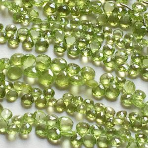 Shop Peridot Faceted Beads! Peridot Beads, Green Peridot Faceted Heart Briolettes, Peridot Necklace, Green Peridot, 7mm Beads, 50 Pieces, 8 Inch Strand | Natural genuine faceted Peridot beads for beading and jewelry making.  #jewelry #beads #beadedjewelry #diyjewelry #jewelrymaking #beadstore #beading #affiliate #ad