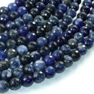Sodalite Beads, 8mm(8.3mm) Faceted Round Beads, 15 Inch, Full Strand, Approx 47 Beads, Hole 1mm, A Quality (411025004)