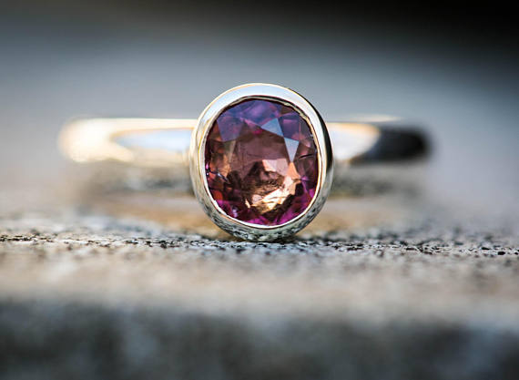 Pink Tourmaline Ring 8 -  Rosé Pink Tourmaline - Tourmaline Ring Size 8 - Pink Tourmaline - Engagement Ring Alternative Rosé Tourmaline 8