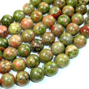 Unakite Beads, 12mm Round Beads, 15 Inch, Full strand, Approx 30 beads, Hole 1 mm (429054003)
