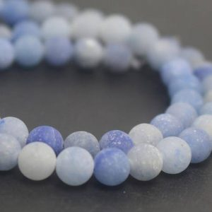 Shop Aventurine Beads! Matte Blue Aventurine Gemstone Beads,6mm/8mm/10mm/12mm Round Stone Beads,15 inches one starand | Natural genuine beads Aventurine beads for beading and jewelry making.  #jewelry #beads #beadedjewelry #diyjewelry #jewelrymaking #beadstore #beading #affiliate #ad