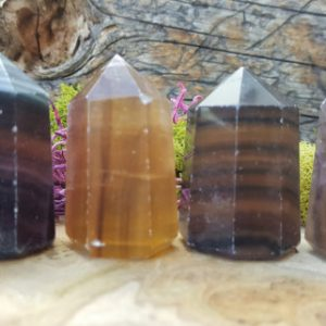 Shop Fluorite Stones & Crystals! Purple Rainbow Fluorite Crystal Tower Point – 088 | Natural genuine stones & crystals in various shapes & sizes. Buy raw cut, tumbled, or polished gemstones for making jewelry or crystal healing energy vibration raising reiki stones. #crystals #gemstones #crystalhealing #crystalsandgemstones #energyhealing #affiliate #ad