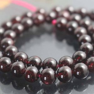8mm Natural AA Garnet Beads,Smooth and Round Garnet Beads,15 inches one starand | Natural genuine round Garnet beads for beading and jewelry making.  #jewelry #beads #beadedjewelry #diyjewelry #jewelrymaking #beadstore #beading #affiliate #ad