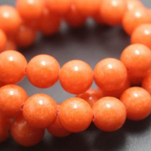 Shop Jade Beads! Orange Mountain Jade Beads, 6mm / 8mm / 10mm / 12mm Candy Jade Beads, smooth And Round Beads, 15 Inches One Starand | Natural genuine beads Jade beads for beading and jewelry making.  #jewelry #beads #beadedjewelry #diyjewelry #jewelrymaking #beadstore #beading #affiliate #ad