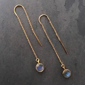 Shop Labradorite Earrings! Threader Earrings, Labradorite Earrings, Labradorite Threader Earrings, Gold Filled Wires, Blue flash labradorite | Natural genuine gemstone jewelry in modern, chic, boho, elegant styles. Buy crystal handmade handcrafted artisan art jewelry & accessories. #jewelry #beaded #beadedjewelry #product #gifts #shopping #style #fashion #product