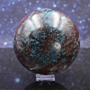 Remarkable Large Polished Shattuckite Sphere From Namibia | Malachite | Dioptase Matrix | Crystal Mineral Ball | Rare | 708 Grams