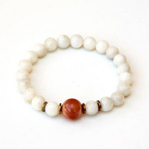 Shop Moonstone Bracelets! Moonstone bracelet with Sunstone focal | Natural genuine Moonstone bracelets. Buy crystal jewelry, handmade handcrafted artisan jewelry for women.  Unique handmade gift ideas. #jewelry #beadedbracelets #beadedjewelry #gift #shopping #handmadejewelry #fashion #style #product #bracelets #affiliate #ad