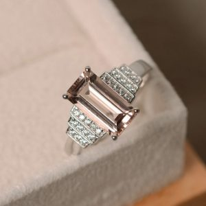 Shop Morganite Engagement Rings! Morganite engagement ring | Natural genuine Morganite rings, simple unique alternative gemstone engagement rings. #rings #jewelry #bridal #wedding #jewelryaccessories #engagementrings #weddingideas #affiliate #ad
