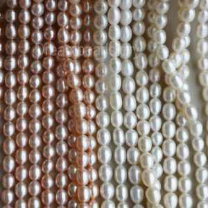 Shop Pearl Bead Shapes! Loose Pearl Beads, Pearl String, Pearl Strand, Rice Pearls, 4-5mm 5-6mm 7-8mm White Pearls, Natural Freshwater Pearls, Pearl Jewelry Beads | Natural genuine other-shape Pearl beads for beading and jewelry making.  #jewelry #beads #beadedjewelry #diyjewelry #jewelrymaking #beadstore #beading #affiliate #ad