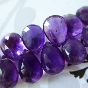 Shop Amethyst Faceted Beads! PURPLE AMETHYST Pear / 14.5-16 mm, AAA, 1-10 pcs / Royal Purple Focal, Faceted, february birthstone bridal wholesale beads 14up solo tr | Natural genuine faceted Amethyst beads for beading and jewelry making.  #jewelry #beads #beadedjewelry #diyjewelry #jewelrymaking #beadstore #beading #affiliate #ad