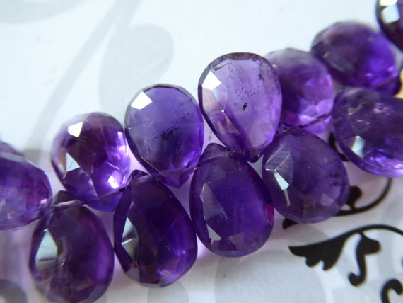 Purple Amethyst Pear / 14.5-16 Mm, Aaa, 1-10 Pcs / Royal Purple Focal, Faceted, February Birthstone Bridal Wholesale Beads 14up Solo Tr