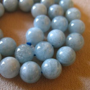 Sale.. 2 4 6 12 Pcs, Aquamarine Round Beads, 10.25 Mm, Luxe Aaa, Light Aqua Blue Green Beads, Smooth..march Birthstone..roundgems10 Solo