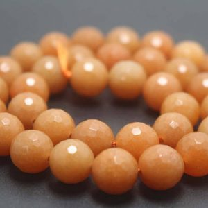 128 Faceted Aventurine Round Beads,6mm/8mm/10mm/12mm Gemstone Beads Supply,15 Inches One Starand