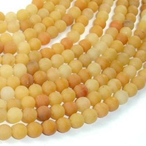 Matte Yellow Aventurine Beads, 6mm(6.7mm) Round Beads, 15.5 Inch, Full strand, Approx 60 beads, Hole 1mm, A quality (439054006) | Natural genuine beads Array beads for beading and jewelry making.  #jewelry #beads #beadedjewelry #diyjewelry #jewelrymaking #beadstore #beading #affiliate #ad