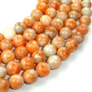 Shop Calcite Beads! Orange Calcite Beads, Round, 10 Mm, 16 Inch, Full Strand, Approx 41 Beads, Hole 1 Mm (335054001) | Natural genuine round Calcite beads for beading and jewelry making.  #jewelry #beads #beadedjewelry #diyjewelry #jewelrymaking #beadstore #beading #affiliate #ad